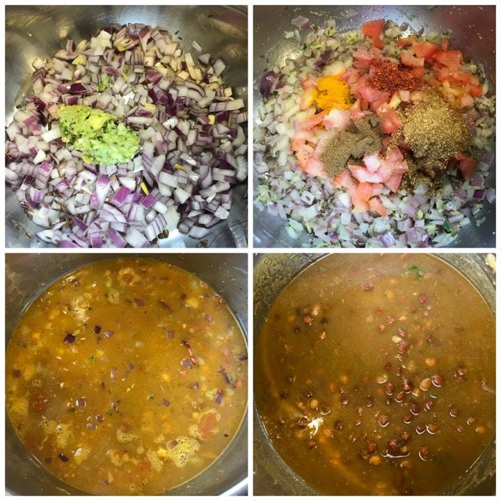 Instant Pot Kala Chana Curry. Black Chickpeas Steps