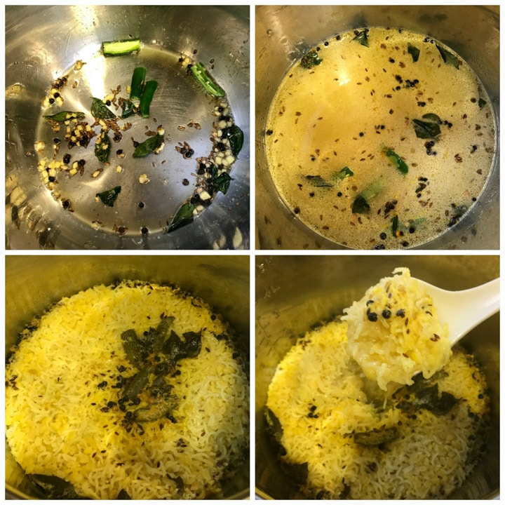 Moong Dal Khichdi in Instant Pot Pressure Cooker Steps