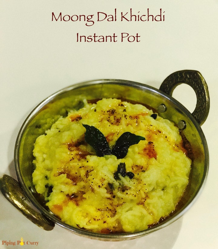 Moong Dal Khichdi in Instant Pot Pressure Cooker