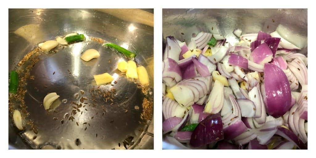 Saag Paneer Instant Pot Pressure Cooker Steps