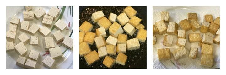 Vegan Palak Tofu Instant Pot - Tofu Prep