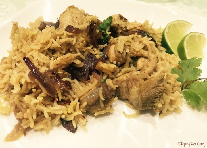 Chicken Biryani in Instant Pot Pressure Cooker