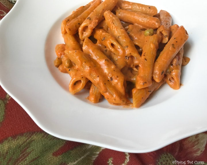 Penne Pasta in Tomato Cream Sauce Instant Pot