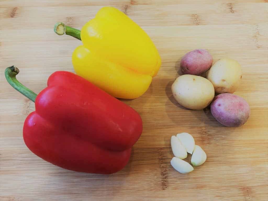 Bell Pepper and Potato Stir Fry Pressure Cooker Ingredients
