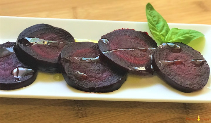 Instant Pot Beets - Drizzled with olive oil