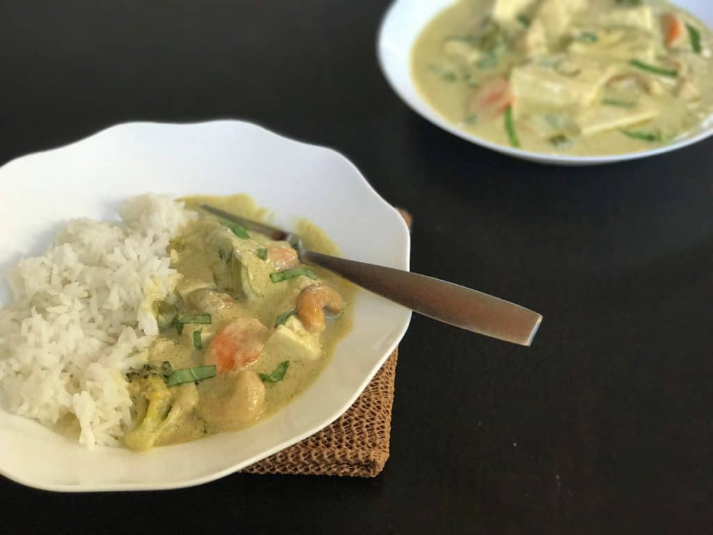 Thai Green Curry Tofu Instant Pot Pressure Cooker 1