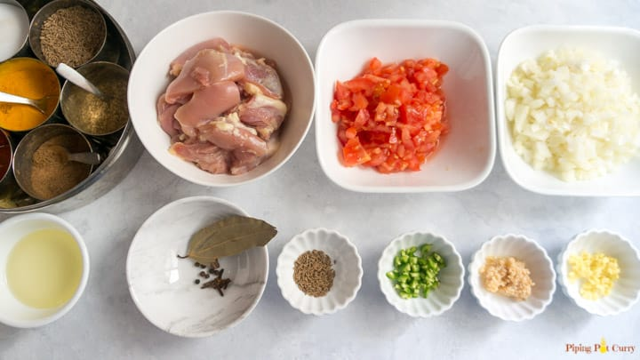 Instant Pot Chicken Curry Ingredients