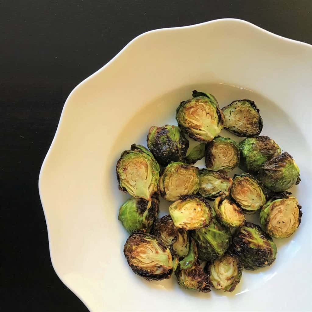 Not usual for a favorite, but these Brussels sprouts made in the air fryer have become a favorite. Crispy on the outside and tender on the inside...yummy!