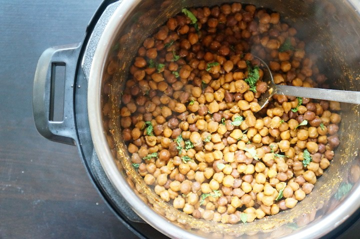 Instant Pot Kala Chana. Pressure Cooker Black Chickpeas
