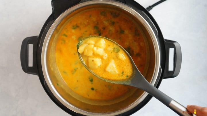 Potatoes in Yogurt Sauce Instant Pot Cooked