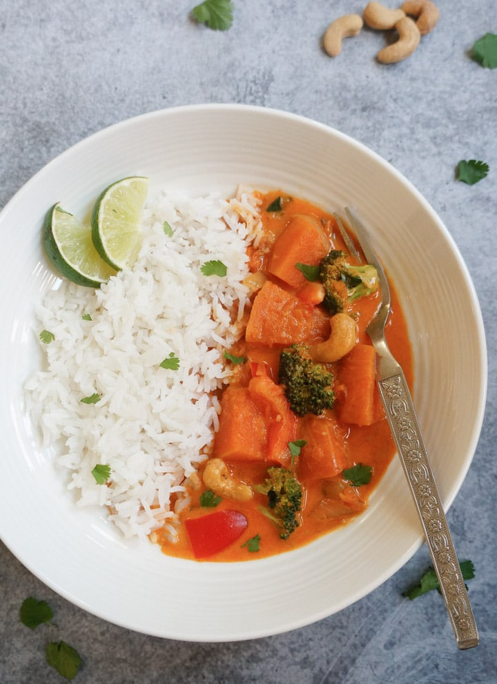 Thai Pumpkin Curry in Instant Pot Pressure Cooker
