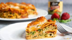 Spinach Artichoke Lasagna in Pressure Cooker.