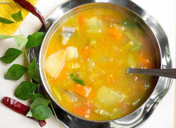 Vegetable Sambar made in Instant Pot