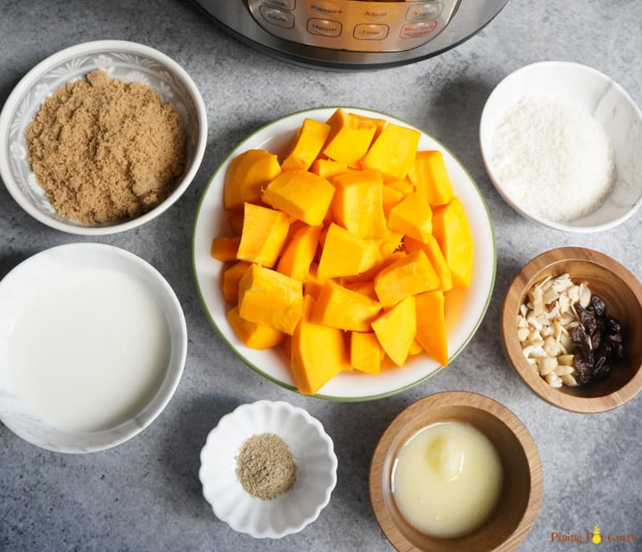 Coconut Pumpkin Halwa Ingredients