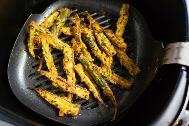 Kurkuri bhindi made in air fryer without deep frying