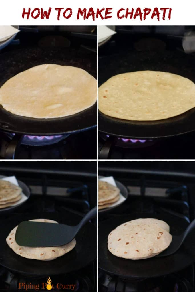 How to make Chapati steps - Whole wheat indian flatbread