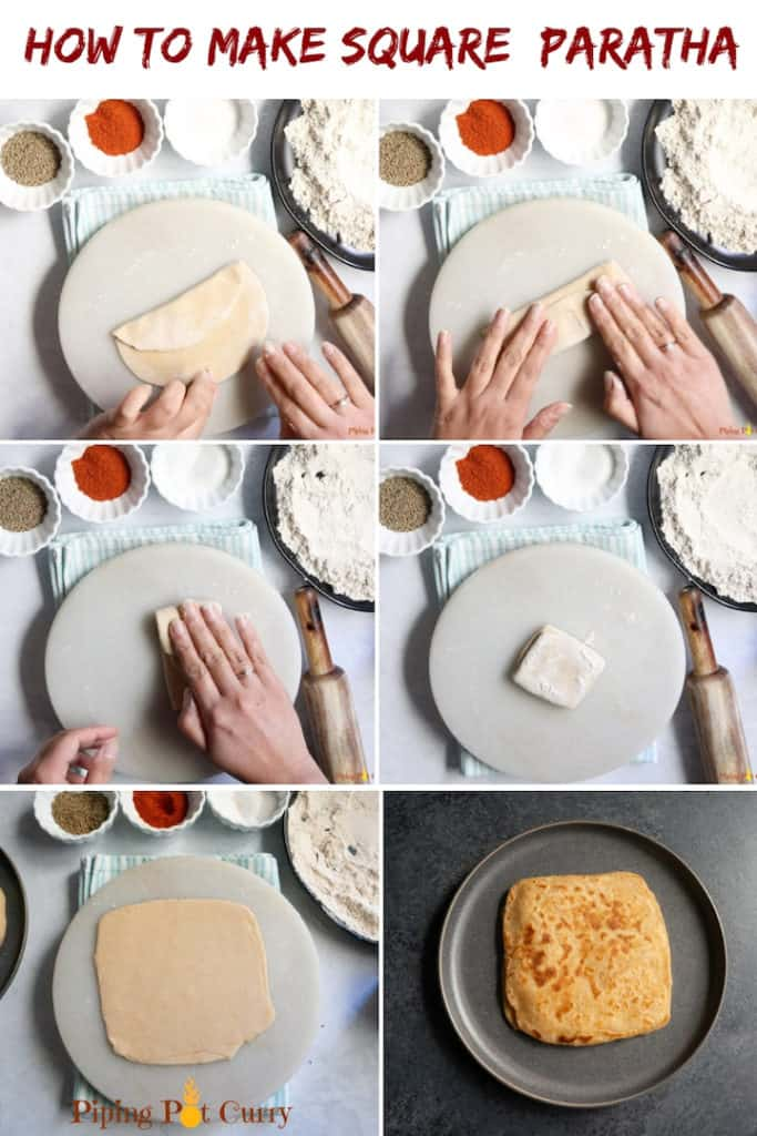 How to make square paratha